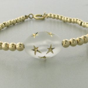 12009 - 14K Gold filled Bracelet With Star Beads