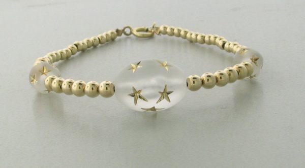 12009 - 14K Gold filled Bracelet With Star Beads