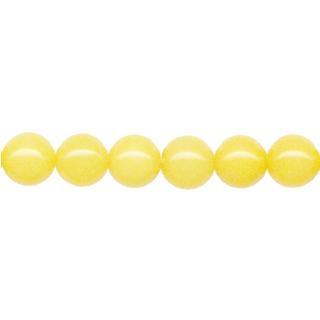 """9118 - 6mm Yellow Jade Stone Beads - 16"""" Strand"""