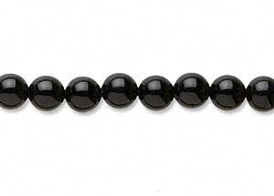 "9121 - 6mm Black Onyx Stone Beads - 16"" Strand"