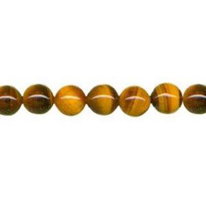 "9122 - 6mm Tiger Eye Stone Beads - 16"" Strand"