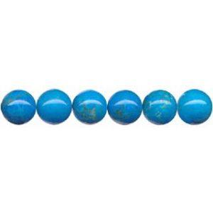 "9123 - 6mm Howlite Turquoise Stone Beads - 16"" Strand"