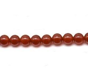 "9124 - 6mm Carnelian Stone Beads - 16"" Strand"
