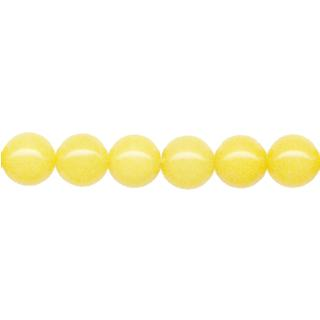 "9135 - 8mm Yellow Jade stone Beads - 16"" Strand"