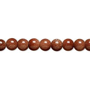 "9137 - 8mm Gold Stone Beads - 16"" Strand"