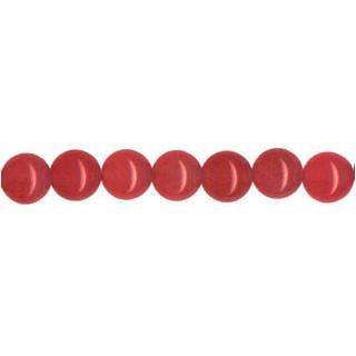 """9141 - 8mm Red Jade Stone Beads - 16"""" Strand"""