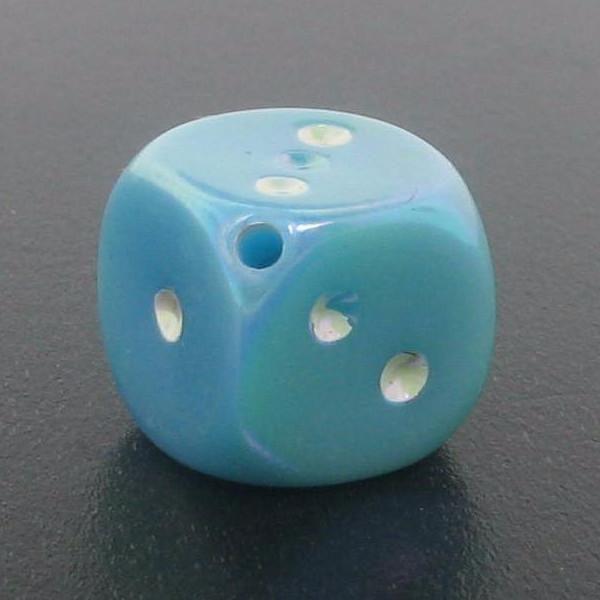 9014 - 10x10 Large Dice Bead - Aquamarine AB