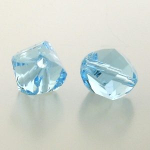 5020 - 6mm Swarovski Helix Beads - Aquamarine