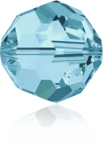 5000 - 6mm Swarovski Round Crystal Bead - Aquamarine