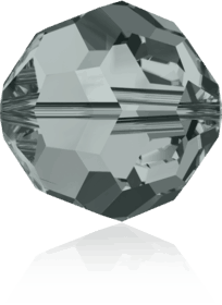 5000 - 6mm Swarovski Round Crystal Bead - Black Diamond