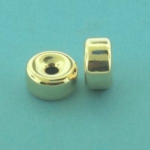 36 - 16x10.5mm Gold Filled Plain Flat Rondelle
