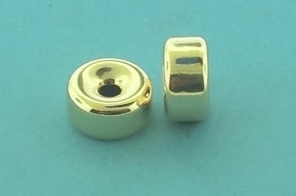 37 - 20x11mm Gold Filled Plain Flat Rondelle