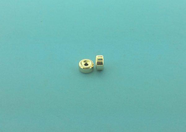 28 - 5.2x2.6mm Gold Filled Plain Flat Rondelle