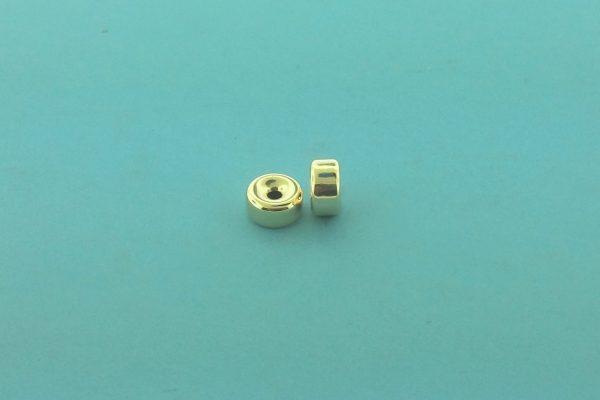 30 - 7.1x3.6mm Gold Filled Plain Flat Rondelle