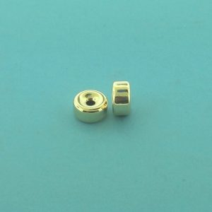 31 - 8.1x4.1mm Gold Filled Plain Flat Rondelle