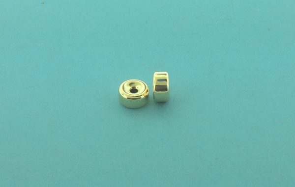 31 - 8.1x4.1mm Gold Filled Plain Flat Rondelle