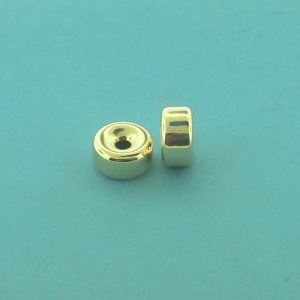 33 - 10.4x5.5mm Gold Filled Plain Flat Rondelle