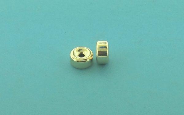 33 - 10.4x5.5mm Gold Filled Plain Flat Rondelle