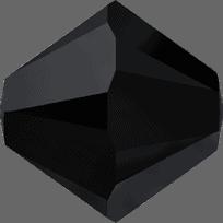 5301/5328 - 2.5mm Swarovski Bicone Crystal Bead - Jet