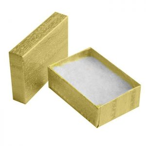 "11092 - Cotton Filled Jewelry Box 3.25""x 2.25""x 1"""