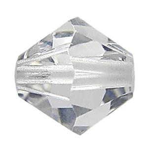 5301/5328 - 4mm Swarovski Bicone Bead - Shadow Crystal