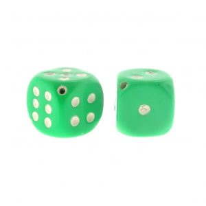 Medium Transparent Dice Beads