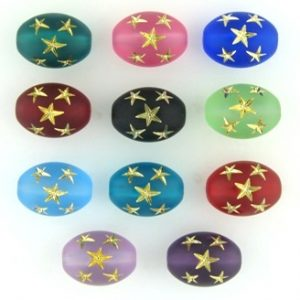 Oval Star Beads