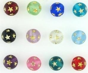 Round Star Beads