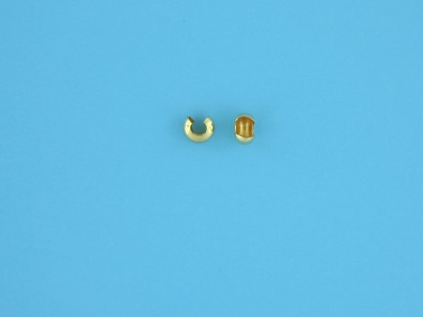 1748 - 3mm Gold Filled Crimp Cover