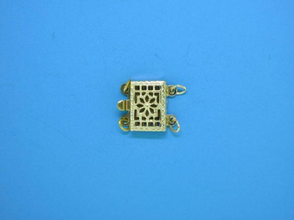374 - 7x10mm Gold Filled 2 Strands Filigree Clasp