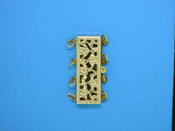 377 - 9x23mm Gold Filled 4 Starnds Clasp