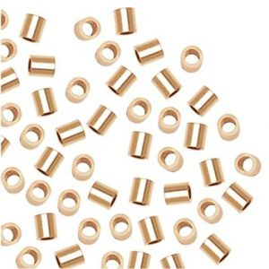 417 - 2x2mm Gold Filled Crimp Bead (Smasher)