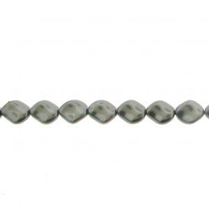 5826 - 9x8mm Swarovski Curved Pearl - Dark Grey