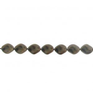 5826 - 9x8mm Swarovski Curved Pearl - Deep Brown
