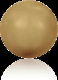 5810 – 12mm Swarovski Round – Bright Gold Pearl