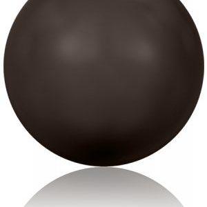 5810 - 4mm Swarovski Round - Deep Brown Pearl