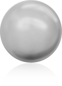 5810 - 6mm Swarovski Round - Light Grey Pearl