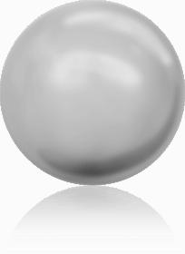 5810 - 4mm Swarovski Round - Light Grey Pearl