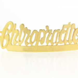 # 9785 - 14K Gold Filled Name Plate For Bracelet - Chiropractic