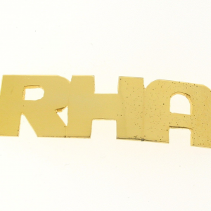 # 9787 - 14K Gold Filled Name Plate For Bracelet - RHA