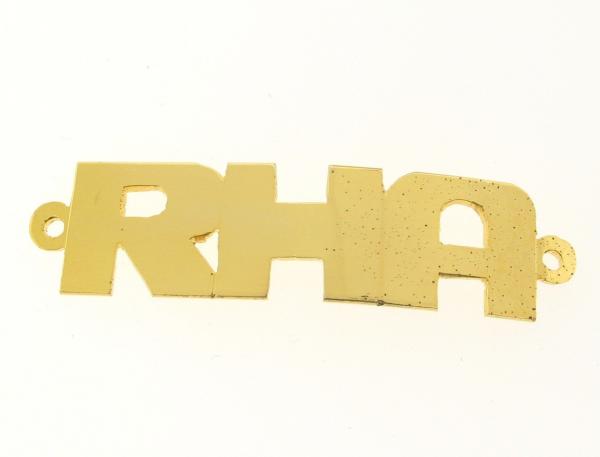 # 9787 - 14K Gold Filled Name Plate For Bracelet - RHA