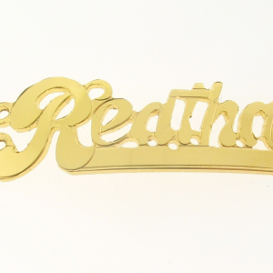 # 9784-14K Gold Filled Name Plate For 2 Line Bracelet - Reatha