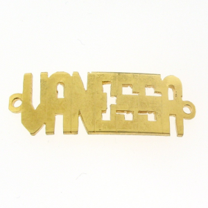# 9790 - 14K Gold Filled Name Plate For Bracelet - Vanessa