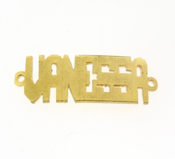 # 9790 - 14K Gold Filled Name Plate For Bracelet - Vanessa