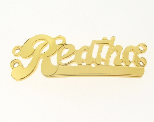 # 9784-14K Gold Filled Name Plate For 2 Line  Bracelet - Reatha