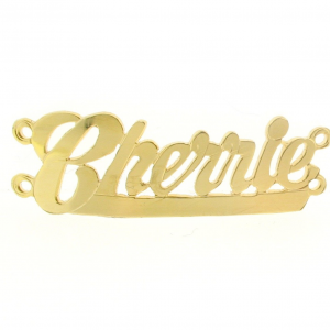 Name Plates for Bracelets - Gold