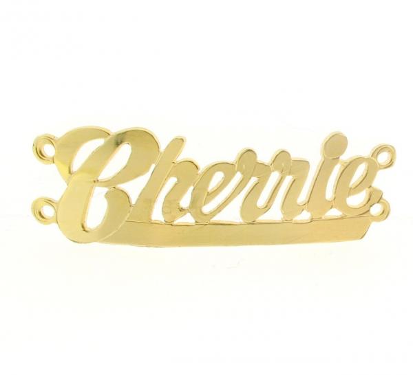 # 9793 - 14K Gold Filled Name Plate For Bracelet - Cherrie