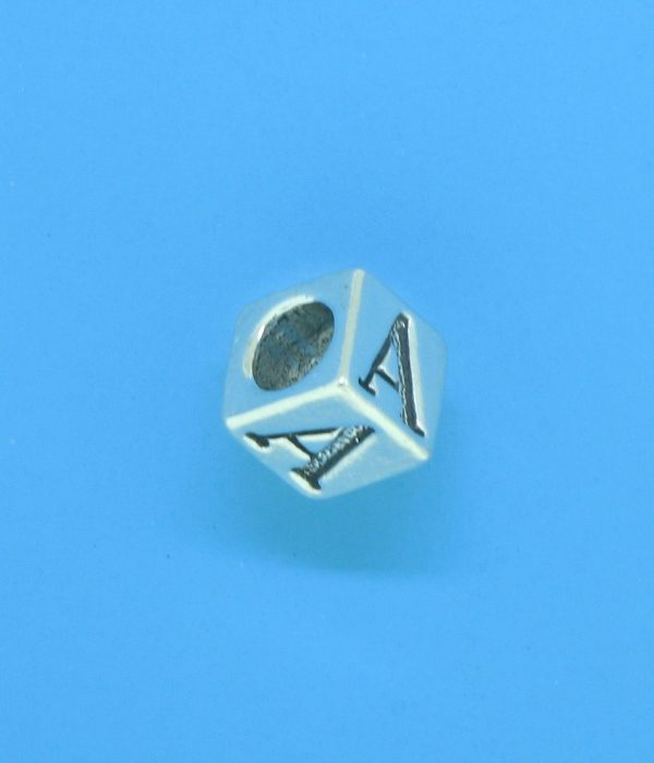 1310 - 6.5mm Sterling Silver Alphabet - A