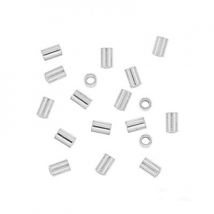 1385 - 2x3mm Sterling Silver Crimp Bead (Smasher)