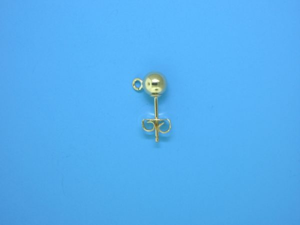 381 - 5mm Gold Filled Ball Earring With Open Ring